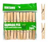 Bamboo Peg Деревянные прищепки, длинна 6см, 20шт (59175)
