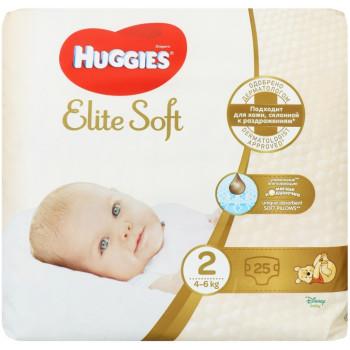 Huggies Elite Soft подгузники  #2, 4-6 кг, 25шт (47961)