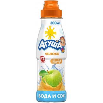 Агуша вода и сок, яблоко, с 12 месяцев, 300мл (30925)
