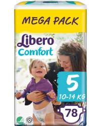 Libero comfort подгузники #5, 10-14 кг,  78шт (83346)
