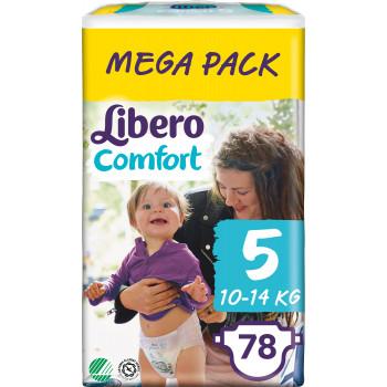 Libero comfort подгузники #5, 10-14 кг,  80шт (90770)
