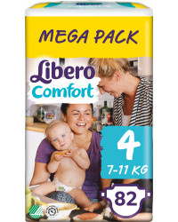 Libero comfort подгузники  #4, 7-11 кг, 82шт (83186)