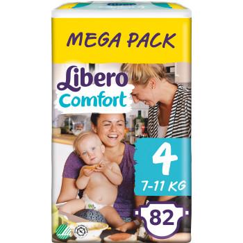 Libero comfort подгузники  #4, 7-11 кг, 84шт (90633)