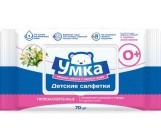 Умка гипоаллергенные детские влажные салфетки с клапанами,  с экстрактом ромашки и череды, 0+ месяцев, 70шт (87848)