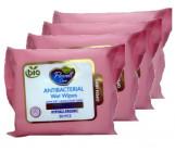 Flovell care Bio детские влажные салфетки, карманные, Без запаха, 4 уп, 80шт (90211)