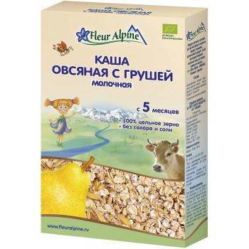 Fleur Alpine каша овсяная с грушей, с молоком, с 5 месяцев, 200гр (32197)
