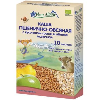 Fleur Alpine каша пшенично-овсяная с грушей и яблоком, с молоком, с 10 месяцев, 200гр (02754)