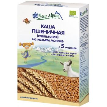 Fleur Alpine каша пшеничная спельтовая на козьем молоке, с 5 месяцев, 200гр (02914)