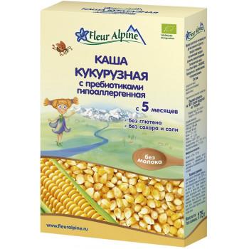 Fleur Alpine каша кукурузная гипоаллергенная с пребиотиками, без молока, с 5 месяцев, 175гр (32074)