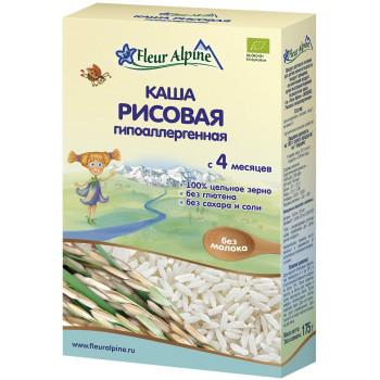 Fleur Alpine каша рисовая гипоаллергенная, без молока, c 4 месяцев, 175гр (32012)