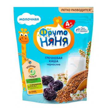 Фруто Няня каша молочная гречневая, чернослив, с 4 месяцев, 200гр (08066)