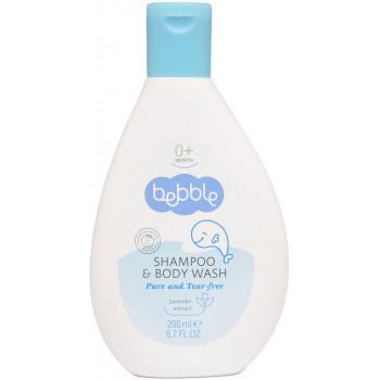 Bebble детский шампунь для волос и тела, экстракт лаванды, 200 мл (01078)