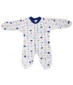 Kilic Bebe комбинезон-слип детский с царапками, синий, 0-3 месяцев, 1шт (09000)