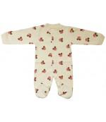 Аистёнок комбинезон-слип детский, бежевый, 3-6 месяцев, 1шт (09338)