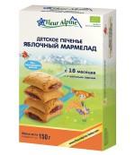 Fleur Alpine печенье детское, Яблочный мармелад, с 18 месяцев, 150гр (41165)