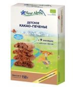 Fleur Alpine печенье детское, Какао, с 9 месяцев, 150гр (41189)