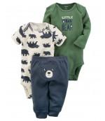 Carters комплект-тройка на мальчика, Little bear, размеры с 0 мес, 3+ мес (126H037)