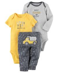 Carters комплект-тройка на мальчика, Daddy's assistant, размер с 0 мес (126G855)