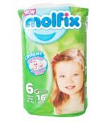 Molfix Unique Extra Large подгузники для детей  #6, 15+ кг, 16шт (40458)