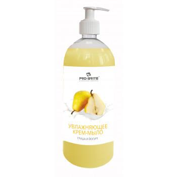 Pro Brite Cream Soap жидкое крем-мыло увлажняющее, Груша и йогурт, 1000мл (65892)