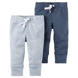 Carters штанишки для мальчика, Серый и синий, 2 шт, размеры с 3+ мес, 6+ мес, 9+ мес, 12+ мес (126G720)