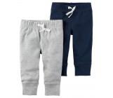 Carters штанишки для мальчика, Серый и темно-синий, 2 шт, размеры с 3+ мес, 6+ мес, 9+ мес, 12+ мес (126G765)