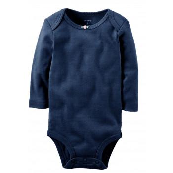 Carters бодик с длинными рукавами, темно синий, 1 шт, размеры с 0 мес, 3+ мес, 6+ мес, 9+ мес (1268731)