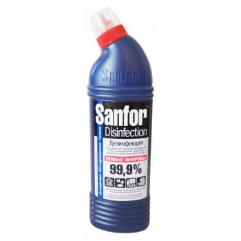 Sanfor Desinfection средство для мытья санузлов, душевых кабин, бассейнов и др., 750мл (13838)