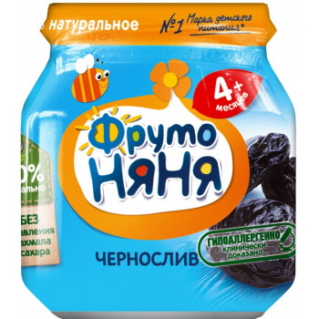 Фруто Няня пюре, чернослив, с 4 месяцев, 100гр (05690)