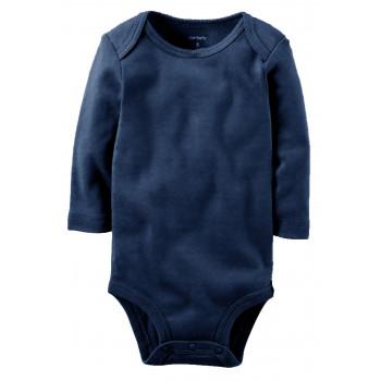 Carters бодик с длинными рукавами, темно-синий, 1 шт,  размеры с 0 мес, 3+ мес, 6+ мес, 9+ мес (126874-2)