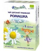 Fleur Alpine чай детский травяной, ромашка, с 1 месяца, 20 пакетиков по 1,5гр (25038)