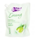 Luksja Creamy жидкое крем-мыло, оливки и йогурт, 900мл (04880)