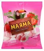 Маяма жевательный мармелад с начинкой, со вкусом клубники со сливками, 70гр (07314)