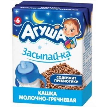 Агуша засыпай-ка молочно-гречневая готовая каша, с пребиотиками, с 6 месяцев, 200мл (29943)