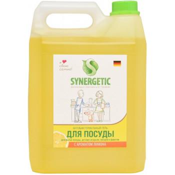 Synergetic антибактериальный гель для мытья посуды, детских игрушек, овощей и фруктов, с ароматом лимона, 5Л (38891)