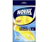 Novax универсальные резиновые перчатки, размер L, 1пара (03434)