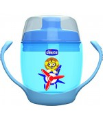 Chicco чашка непроливайка Meal Cup, синяя, 12+ месяцев, 180мл (43002)