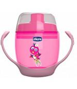 Chicco чашка непроливайка Meal Cup, розовая, 12+ месяцев, 180мл (43019)