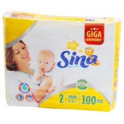 Sina Mini #2 подгузники giga, 3-6кг, 100шт (90453)