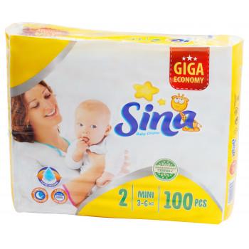 Sina Mini подгузники giga #2, 3-6кг, 100шт (90453)