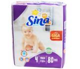 Sina Maxi #4 подгузники giga, 7-18кг, 80шт (90477)