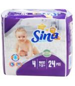 Sina Maxi #4 подгузники, 7-18кг, 24шт (90538)