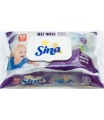 Sina влажные салфетки для детей, экстракт ромашки, 90шт (90248)
