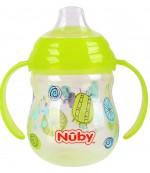 Nuby поильник-непроливайка Cliсk-it, c силиконовым носиком и ручками, 6+ месяцев, 270мл, в ассортименте, 1шт (03201)