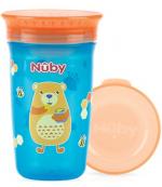Nuby поильник-чашка с крышкой, 6+ месяцев, в ассортименте, 300мл, 1шт (04116)