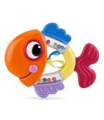 Nuby Прорезыватель-погремушка, рыбка, 3+ месяцев, 1шт (15186)