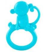Nuby Прорезыватель Зоопарк с кольцом, обезьяна, 0+ месяцев, 1шт (06731)