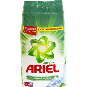 ARIEL стиральный порошок автомат Горный родник, для белого белья, 9кг (57829)