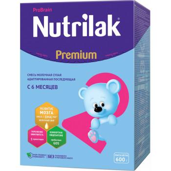 Nutrilak Premium сухая молочная смесь #2, c 6 месяцев, 600гр (20441)