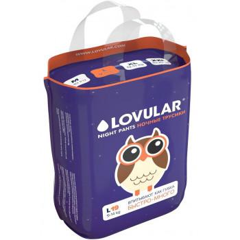 Lovular ночные трусики-подгузники #4 L, 9-14кг, 19шт (90533)